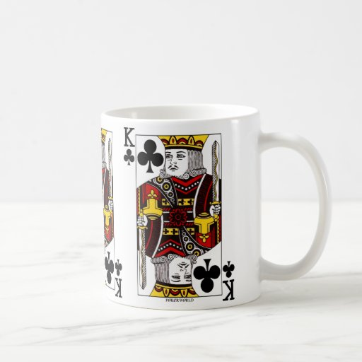 King Of Clubs Playing Card Coffee Mug
