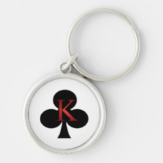 King of Clubs Playing Cards Key Ring