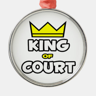 King of Court Metal Ornament