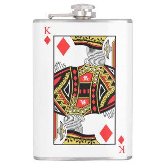 King of Diamonds - Add Your Image Hip Flask