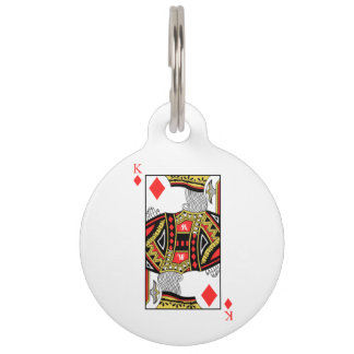King of Diamonds - Add Your Image Pet Tag