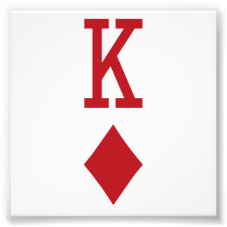 King of Diamonds Red Playing Card Photo Print