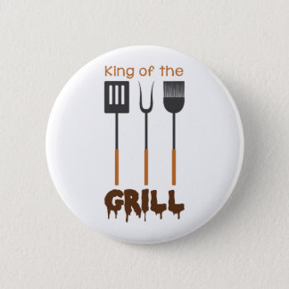 King Of Grill 6 Cm Round Badge