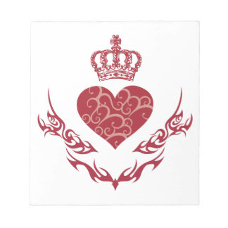 King of heart notepad