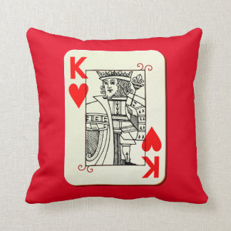 King of Hearts Accent Pillow Cushion