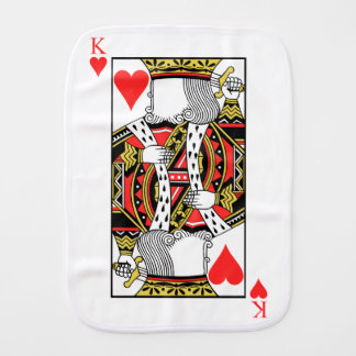 King of Hearts - Add Your Image Burp Cloth