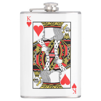 King of Hearts - Add Your Image Hip Flask