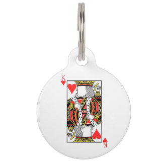 King of Hearts - Add Your Image Pet Tag
