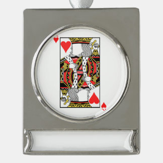 King of Hearts - Add Your Image Silver Plated Banner Ornament