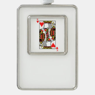 King of Hearts - Add Your Image Silver Plated Framed Ornament