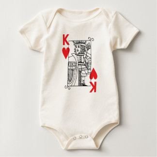 King of Hearts Baby Bodysuit