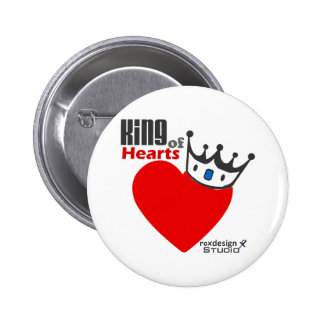 King of Hearts 6 Cm Round Badge