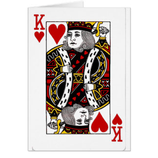 King of Hearts Collection Greeting Card