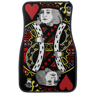 King of Hearts Design Car Mats