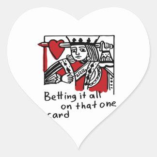 KIng of Hearts Heart Sticker