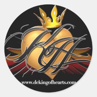 King of Hearts Logo Sticker