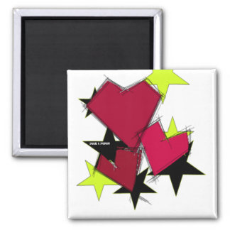 King of Hearts Mag Square Magnet