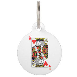 King of Hearts Pet ID Tag