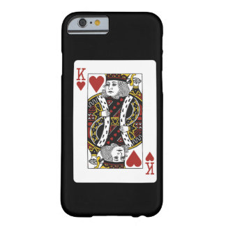 king of hearts playing card barely there iPhone 6 case