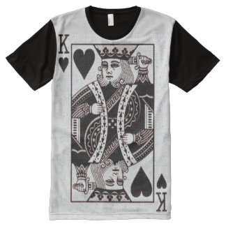 king of hearts, poker All-Over print T-Shirt