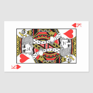King of Hearts Rectangular Sticker