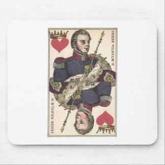 KING OF HEARTS Vintage Print Friedr Wilhelm IV Mouse Pad