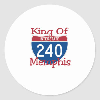 King Of Memphis Classic Round Sticker