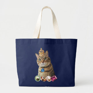 king of nekoneko toto large tote bag