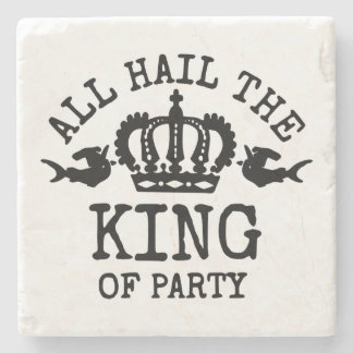 King of Party Stone Beverage Coaster