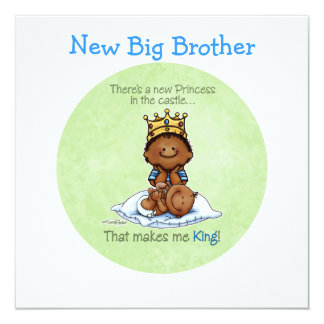 King of Princess - African American 5.25x5.25 Square Paper Invitation Card