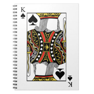 King of Spades - Add Your Image Notebooks