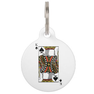 King of Spades - Add Your Image Pet ID Tag