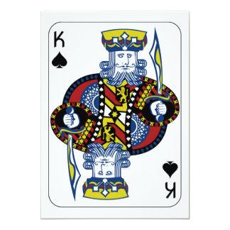 king of spades card custom invites