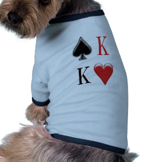 King of Spades, King of Hearts  Apparel Doggie T Shirt