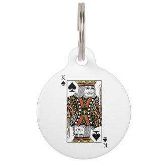 King of Spades Pet ID Tag