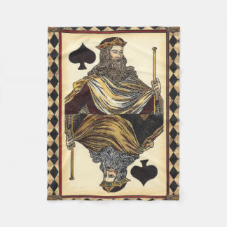 King of Spades Playing Card by Vision Studio Fleece Blanket