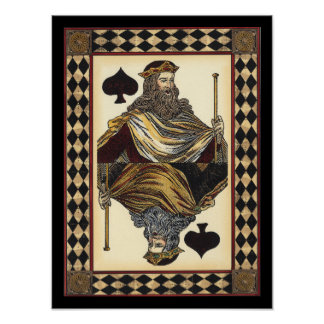King of Spades Playing Card by Vision Studio Poster