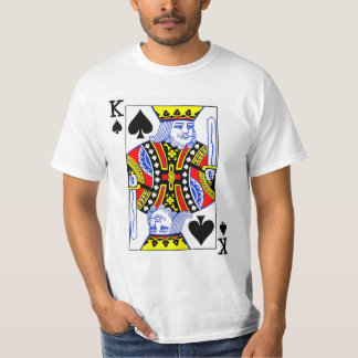 King of Spades Playing Card T-Shirt