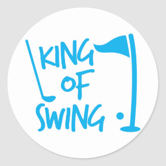 King of SWING! golf ball and golf club Stickers