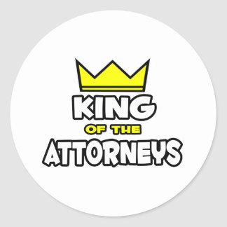King of the Attorneys Sticker