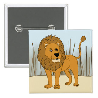 King of the Beast - Lion 15 Cm Square Badge