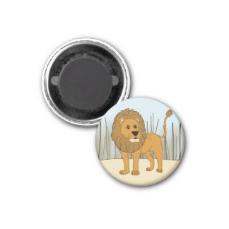 King of the Beast - Lion 3 Cm Round Magnet