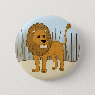 King of the Beast - Lion 6 Cm Round Badge