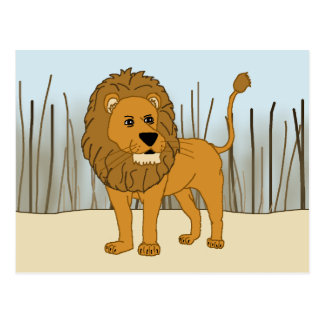 King of the Beast - Lion Postcard
