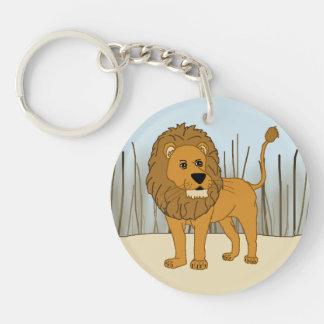 King of the Beast - Lion Single-Sided Round Acrylic Key Ring