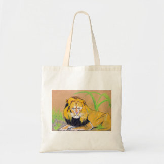 King of the Beasts Tote Bags