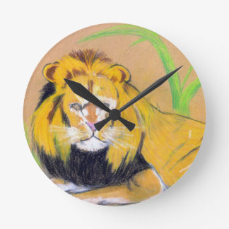 King of the Beasts Round Clocks