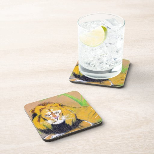 King of the Beasts Beverage Coasters