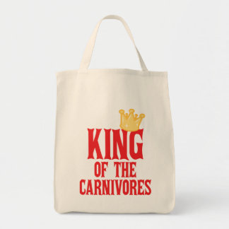 King of the Carnivores Grocery Tote Bag