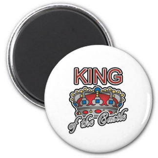 King of the Castle 6 Cm Round Magnet
